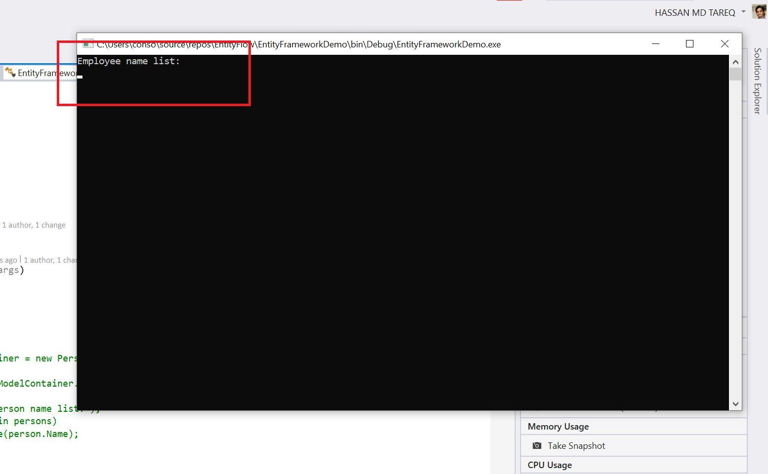 Entity Framework Code Fisrt Approach - Creating edmx from DbContext Step 19